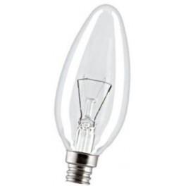 40C1/CL/E14/1 40W лампа накал. свеча прозр. GE