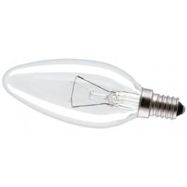 40C1/CL/E14 40W лампа накал. свеча прозр. GE