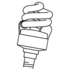 DULUXSTAR MICRO TWIST 11W/827 E14 витая лампа комп. люм. Osram