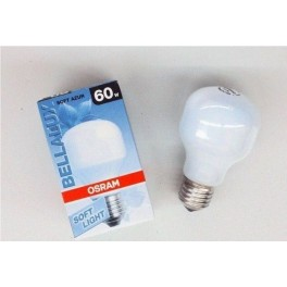 BELLA T55 AZUR 60W Е27 лампа накал.  Osram
