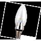 Candle LED Premium  3,3W 220V E14 4000K прозр. свеча искристый трилистник светодиод. лампа Ecola