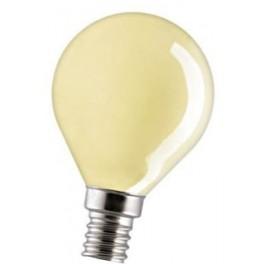 15D1/Y/E14 15W лампа накал. желтая капля GE