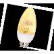 LED Candle 4,2W 220V 4000K E14 98x36 прозр. свеча искристая пирамида светодиод. лампа Ecola