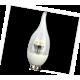 LED Candle 4,2W 220V 2700K E14 прозр. свеча на ветру искр. пирамида 118x37 светодиод. лампа Ecola