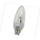 LED Candle 1,7W 220V 4200K E14 102х35 прозр. свеча искр. точка светодиод. лампа Ecola