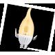 LED Candle 14 4,0W 220V E14 125х37 320* золот.прозр.свеча на ветру искр.точка  светодиод.лампа Ecola