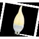 LED Candle 4,4W 220V E14 120x36 золотистая свеча на ветру светодиод. лампа Ecola