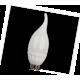 LED Candle 5,0W 220V 2700K E14 125х37 свеча на ветру(керамика)  светодиод. лампа Ecola