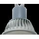 Ecola Reflector GU10  LED  7,0W 220V 6500K (ребристый алюм радиатор) 56x50