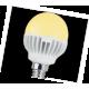 LED Globe G45 5,4W 220V E14 81x45 золотист. шар светодиод. лампа Ecola