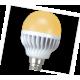 Ecola globe   LED Premium  7,0W G45 220V E14 золотистый шар (ребристый алюм радиатор) 81x45