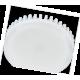 Ecola GX53   LED 10,0W Tablet 220V 4200K матовое стекло (ребристый алюм. радиатор) 27x75