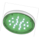 GX53   LED color  4,4W Tablet 220V Green Зеленый прозрачное стекло 27x74 Ecola