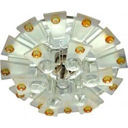 Светильник потолочный JCD9 Max35W G9  прозрачный-матовый -желтый, прозрачный, 1560