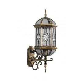 Светильник садово-парковый PL130 шестигранный на стену вверх 60W E27 230V, черное золото