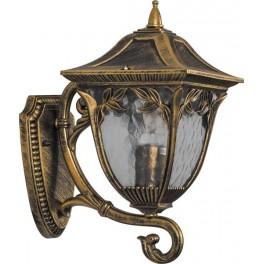 Светильник садово-парковый PL4081 четырехгранный на стену вверх 100W E27 230V, черное золото