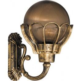 Светильник садово-парковый PL5051 шар на стену вверх 100W E27 230V, черное золото