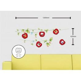 Фоторамка с декоративной наклейкой на стену NL84 для 5 рамок