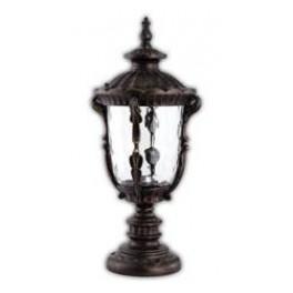 Светильник садово-парковый PL5014 круглый на постамент 100W 230V E27, черное золото