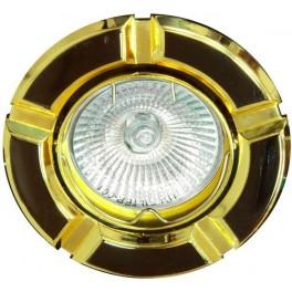 Светильник встраиваемый 098T-MR16 потолочный MR16 G5.3 черный-золото