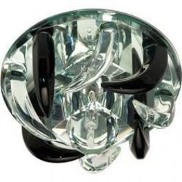 Светильник потолочный, JC G4 с черным и прозрачным стеклом, зеркальный, с лампой, CD2531