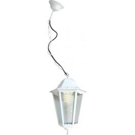 Светильник садово-парковый 6105 шестигранный на цепочке 60W E27 230V, белый