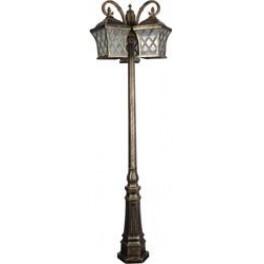 Светильник садово-парковый PL4069 столб четырехгранный 3*60W E27 230V, черное золото