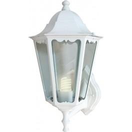 Светильник садово-парковый 6101 шестигранный на стену вверх 60W E27 230V, белый
