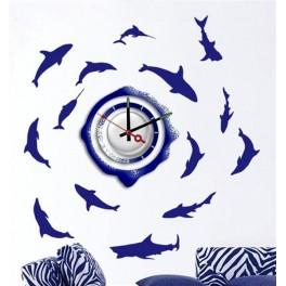 Часы-наклейка на стену NL20 с питанием от батареек