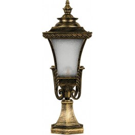 Светильник садово-парковый PL4023 четырехгранный на постамент 60W E27 230V, черное золото