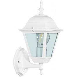 Светильник садово-парковый 4201 четырехгранный на стену вверх 100W E27 230V, белый