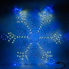 Световая фигура 230V, дюралайт 14 м  24 LED/м (синий+белый), шнур 1,6м IP44, 120*120 см, LT065 артикул