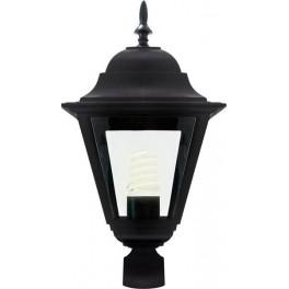 Светильник садово-парковый 4203 четырехгранный на столб 100W E27 230V, черный