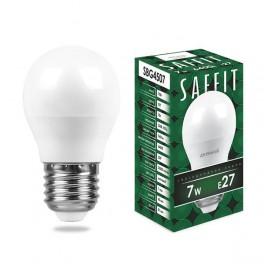 Лампа светодиодная SAFFIT SBG4507 Шарик E27 7W 6400K