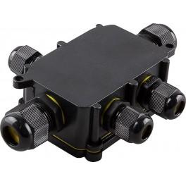 Водонепроницаемая cоединительная коробка LD525, 450V, 140х100х36, черный