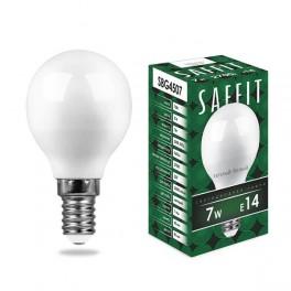 Лампа светодиодная SAFFIT SBG4507 Шарик E14 7W 2700K