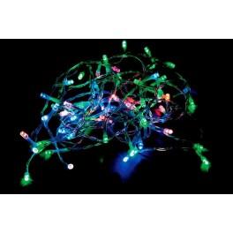 Светодиодная гирлянда CL03 линейная 230V разноцветная c питанием от сети