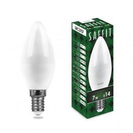 Лампа светодиодная SAFFIT SBC3707 Свеча E14 7W 4000K