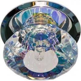 Светильник потолочный, JC G4 с многоцветным стеклом, хром, с лампой, JD83S-MC