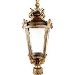 Светильник садово-парковый PL4003 круглый на столб 60W 230V E27, черное золото