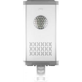 Светодиодный уличный фонарь консольный на солнечной батарее SP2337 12W 6400K с датчиком движения, серый
