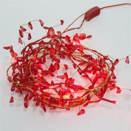Светодиодная гирлянда CL101 фигурная 220V красная c питанием от сети