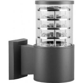 Светильник садово-парковый DH0801, Техно на стену вверх,  E27 230V, серый