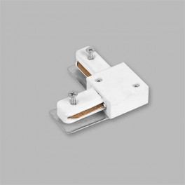 Коннектор угловой для шинопровода, белый, LD1001