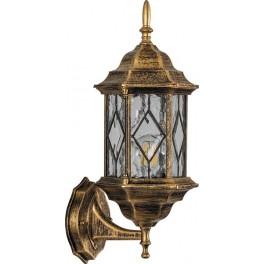 Светильник садово-парковый PL121 шестигранный на стену вверх 60W E27 230V,черное золото