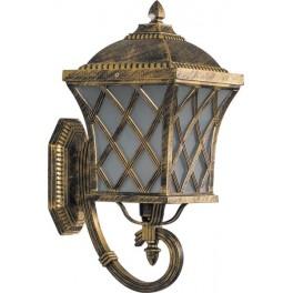 Светильник садово-парковый PL4061 четырехгранный на стену вверх 60W E27 230V, черное золото