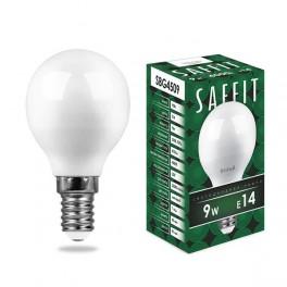 Лампа светодиодная SAFFIT SBG4509 Шарик E14 9W 4000K