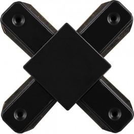 Коннектор Х-образный  для шинопровода , черный, LD1002