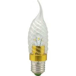 Лампа светодиодная, 6LED(3.5W) 230V E27 2700K золото, LB-78