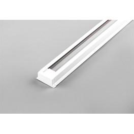 Шинопровод для трековых светильников, белый, 2м, в наборе 2 заглушки, крепление, CAB1000
